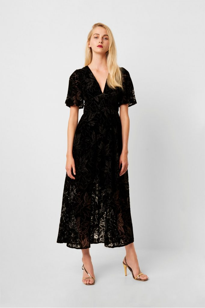 Womens fashionable Hanna velvet Maxi Dress
